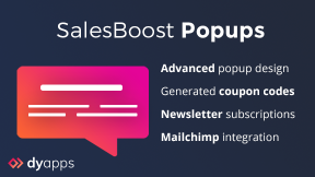 SalesBoost Popups - Newsletter, Coupons & More!